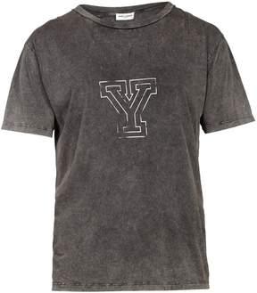 Saint Laurent Logo-print cotton T-shirt