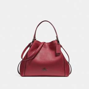 COACH Coach Edie Shoulder Bag 28 - WASHED RED/DARK GUNMETAL - STYLE