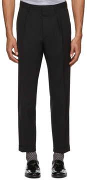 Prada Black Wool Baggy Trousers