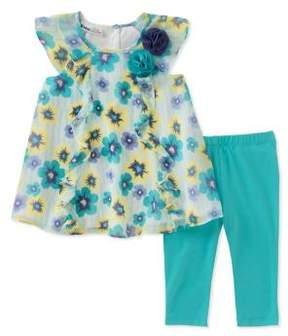 Kids Headquarters Little Girl's Printed Top and Pants Set
