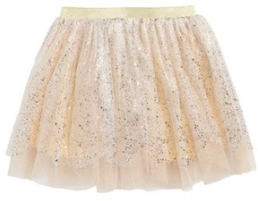 Truly Me Toddler Girl's Foil Scalloped Tutu Party Skirt
