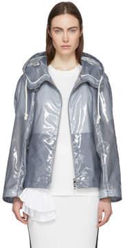 Jil Sander Blue Plastic Coating Extreme Short Zipped Jacket