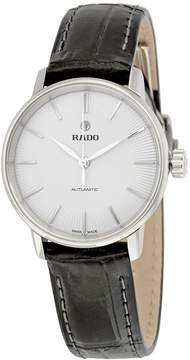 Rado Coupole Classic Automatic Silver Dial Black Leather Ladies Watch