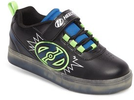 Heelys Boy's Pow X2 Light-Up Wheeled Skate Sneaker