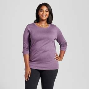 Ava & Viv Women's Plus Size Crew Neck Long Sleeve T-Shirt
