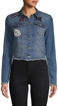 C&C California Women's Frayed Denim Jacket