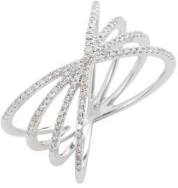Ef Collection Women's Sunburst Diamond Ring