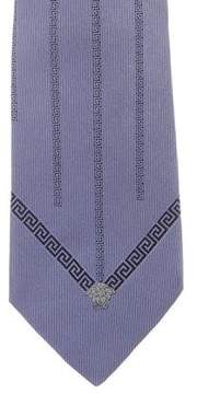 Gianni Versace Greca Silk Tie