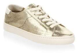 Soludos Metallic Lace-Up Leather Sneakers