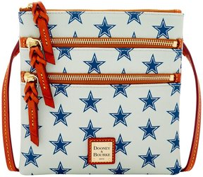 Dooney & Bourke NFL Collection Dallas Cowboys Triple-Zip Cross-Body Bag - GREY - STYLE