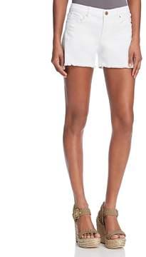 Blank NYC BLANKNYC Great White Distressed Fringed Denim Shorts