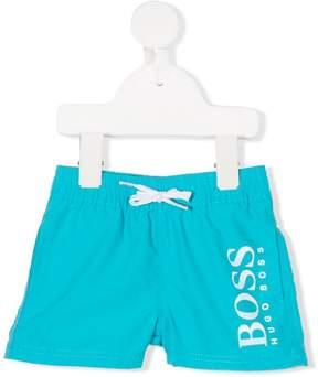Trunks Boss Kids logo print swim shorts