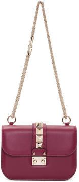 Valentino Burgundy Garavani Small Lock Bag