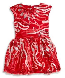 Halabaloo Little Girl's & Girl's Embroidered Ribbon Dress