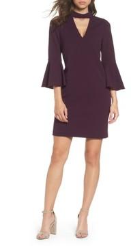 Eliza J Women's Choker Bell Sleeve Shift Dress