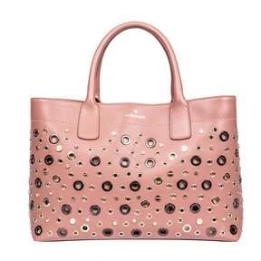 Borbonese Medium Leather Shopping Bag