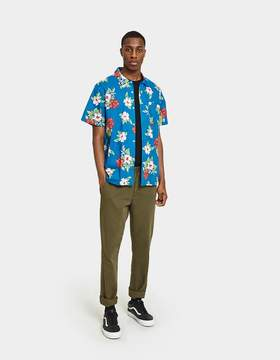 Obey Kane Woven SS Shirt in Navy Multi