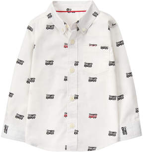 Gymboree White Firetruck Button-Up - Infant & Toddler