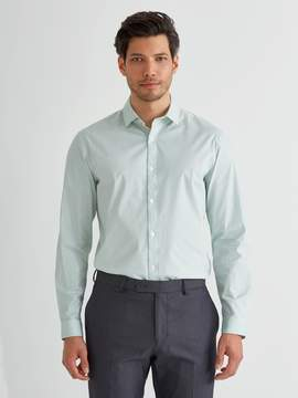 Frank and Oak The Andover Stretch Polkadot Shirt in Harbour Grey