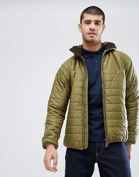 Barbour International Level Hooded Quilt in Green