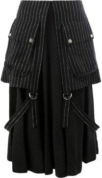 Aalto layered striped skirt
