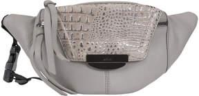 Kooba Metallic Dove Panama Leather Belt Bag