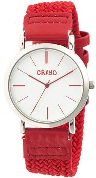 Crayo Symphony Collection CRACR2701 Unisex Watch with Nylon Strap