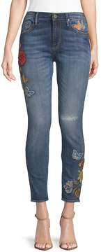 Driftwood Women's Marilyn Embroidered Skinny Jeans