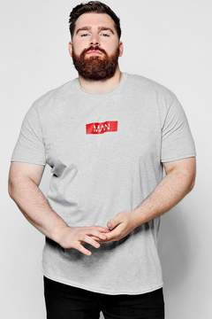 boohoo Big And Tall MAN Dash Print T-Shirt
