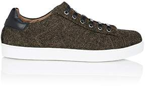 Gianvito Rossi Men's Wool Felt Low-Top Sneakers