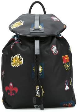 Alexander McQueen badge print backpack