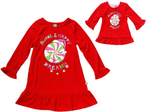 Dollie & Me Girls' Holiday Sleep Shirt