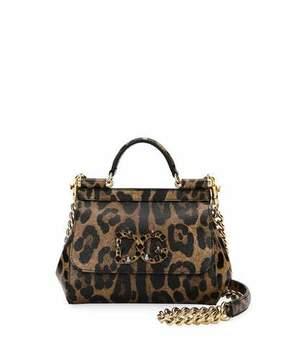 Dolce & Gabbana Sicily Mini Shoulder Bag, Leopard - LEOPARD - STYLE