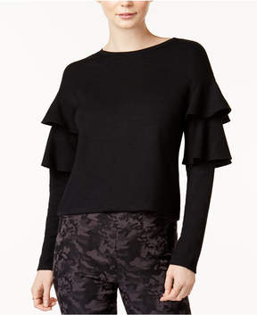Bar III Crew-Neck Tiered-Sleeve Top, Created for Macy's