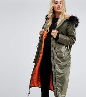 Brave Soul Tall Full Moon Maxi Parka Coat