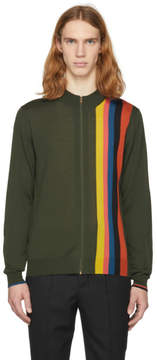 Paul Smith Green Merino Zip Sweater