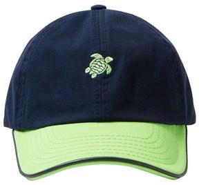 Vilebrequin Navy Green Turtle Cap
