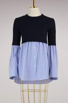 Kenzo Tiger striped cotton shirt