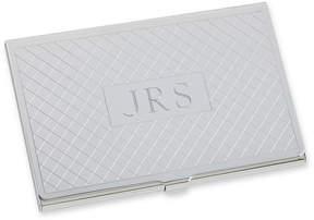 Asstd National Brand Personalized Card Case w/ Diagonal Grid Pattern