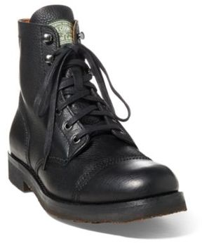 Ralph Lauren Enville Leather Boot Black 10
