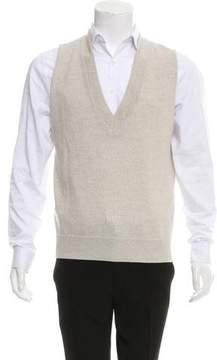 Dries Van Noten Wool V-Neck Sweater Vest