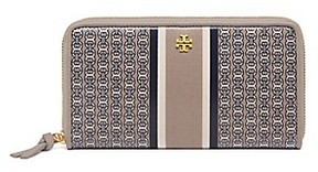 Tory Burch Gemini Link Zip Continental Wallet - FRENCH GRAY GEMINI LINK STRIPE - STYLE