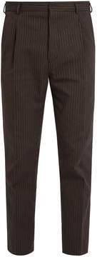 Bottega Veneta Pinstriped cotton and wool-blend trousers
