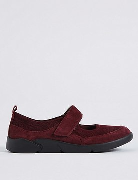 Marks and Spencer Suede Riptape Pump Shoes