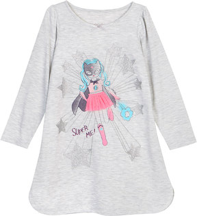Petit Lem Girl's Super Me Knit Nightgown, Gray, Size 2-6x