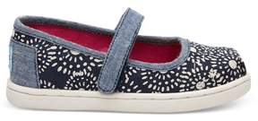 Toms Canvasskor, Infant, Navy Shibori Dots