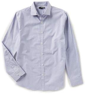 Murano Slim Long Sleeve Spread Collar Gingham Woven Shirt