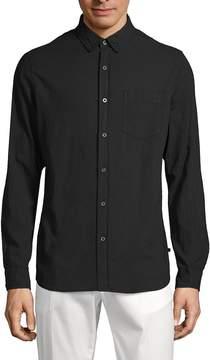 AG Adriano Goldschmied Men's Classic Cotton Button-Down Shirt