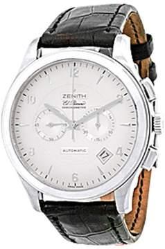 Zenith Grande Class El Primero Chrongraph 18K White Gold Strap Mens Watch