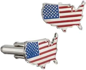 DAY Birger et Mikkelsen Logoart LogoArt Stainless Steel United States American Flag Cuff Links
